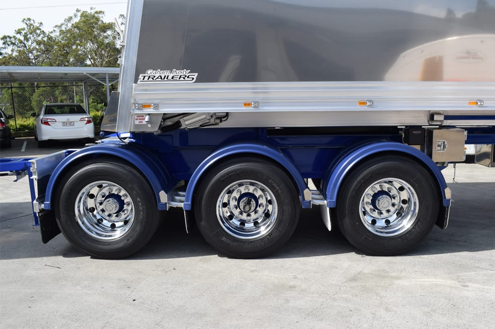 Graham Lusty Trailers Chassis Tipper uses Hendrickson suspension
