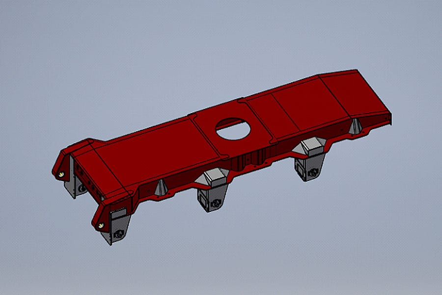 graham lusty trailers Chassis Tipper uses custom extruded aluminium floor beams
