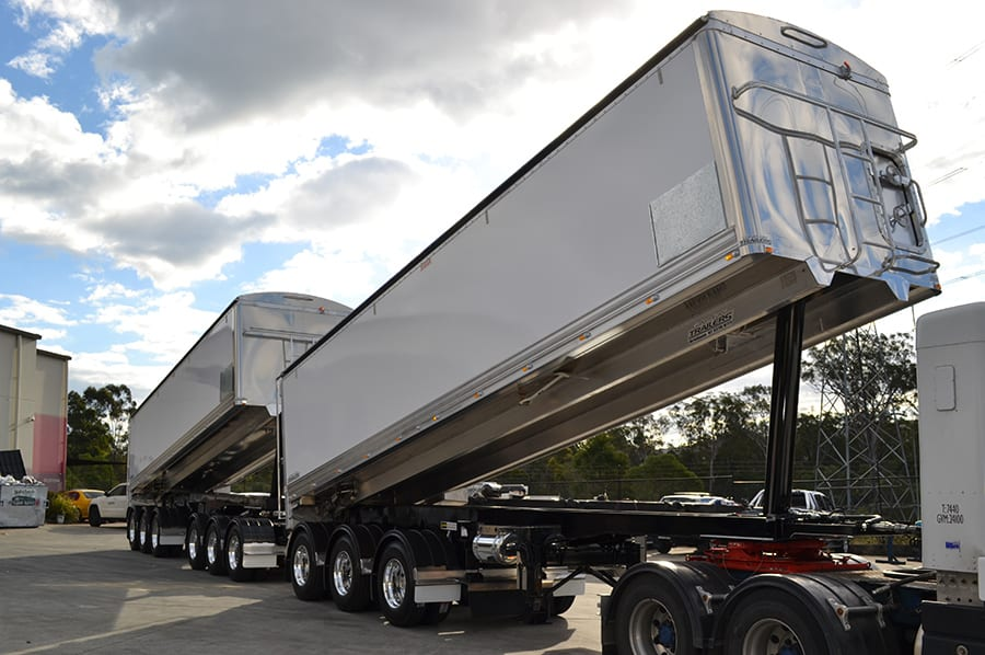 graham lusty trailers Chassis Tipper for WA conditions